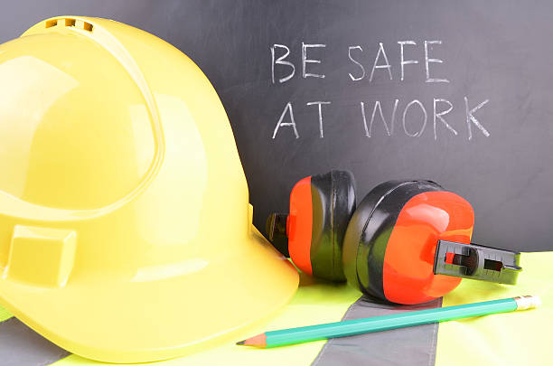 Be Safe at Work stock photo