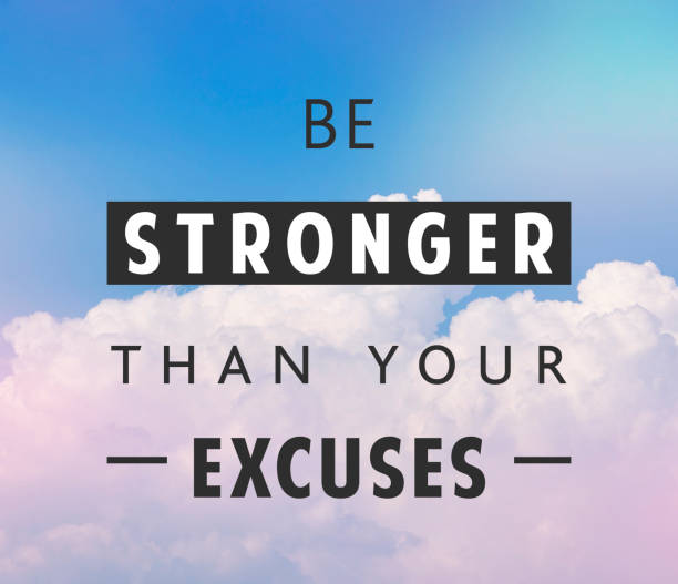 Be stronger quote stock photo