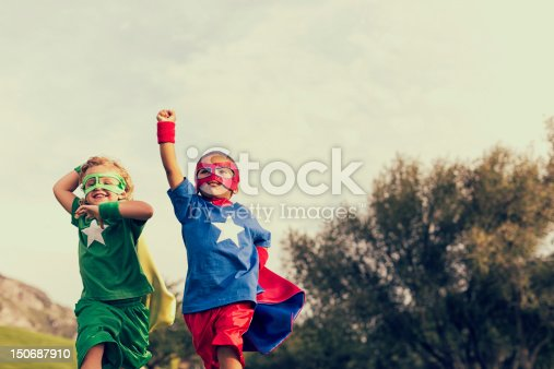 Two superheroes are ready to save the world from evil and tyranny.