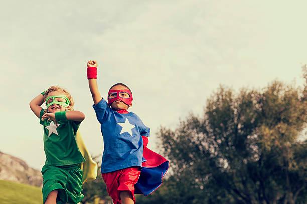 essere super - bambino foto e immagini stock