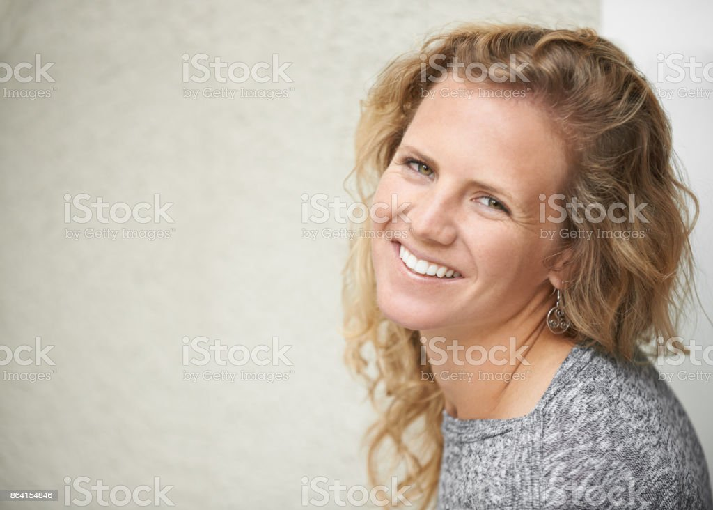 Be your own reason to smile royalty-free stock photo