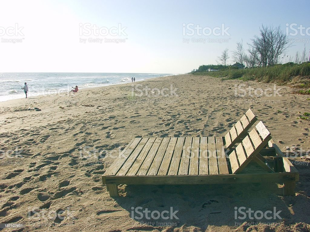 Beach - A Place to Chill - Jensen 333 royalty-free stock photo