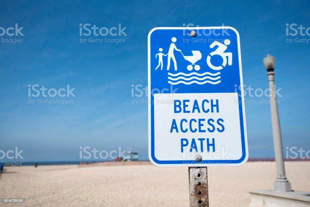 Beach Access sign stock photo