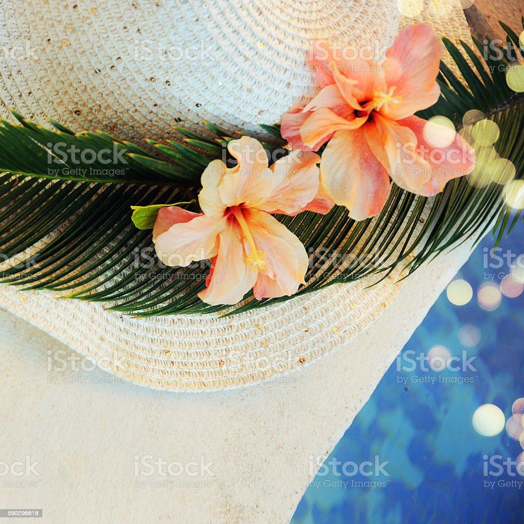 Beach accessories royaltyfri bildbanksbilder