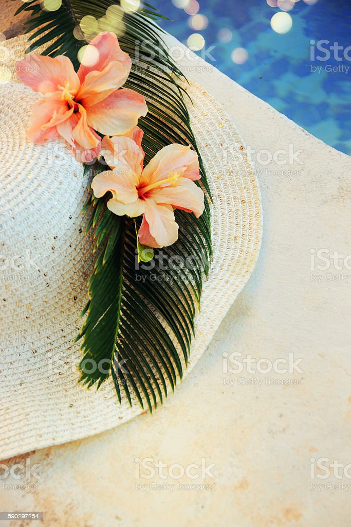 Beach accessories royaltyfri bildbanksbilder