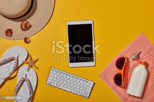 istock Beach accessories, Sea vacation 1160037029