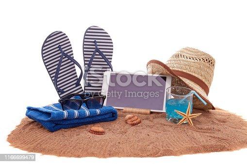 istock Beach accessories, Sea vacation 1166699479
