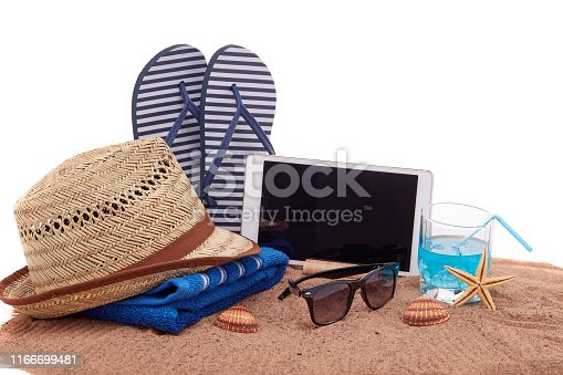 istock Beach accessories, Sea vacation 1166699481