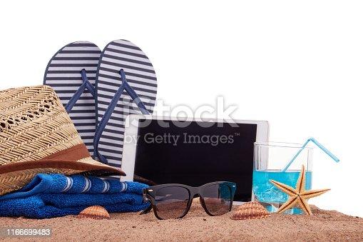 istock Beach accessories, Sea vacation 1166699483