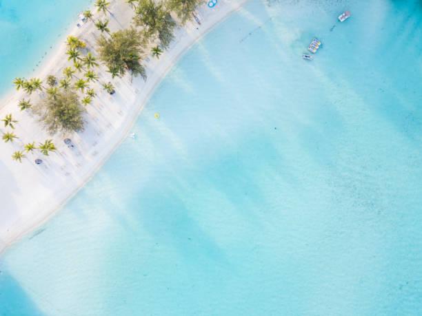 Beach-Luftaufnahme, Französisch-Polynesien – Foto