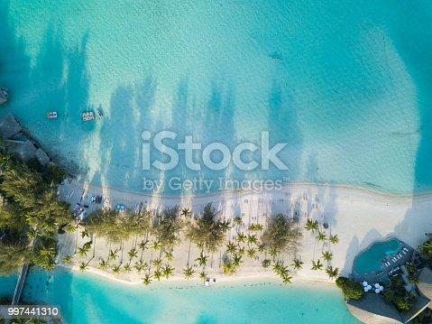 Beach Aerial View, French Polynesia