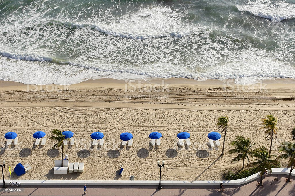 Beach Aerial View royalty-free stock photo