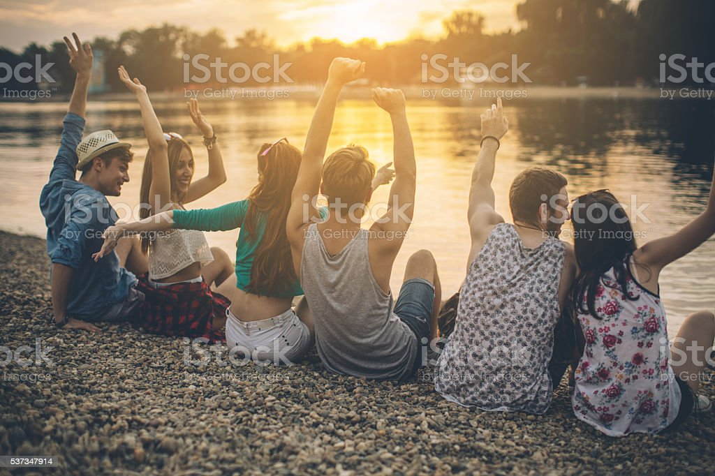 Beach after party! stock photo