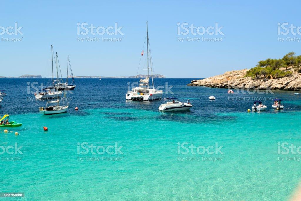 Beach Afternoon In Cala Salada Sant Antoni De Portmany Ibiza