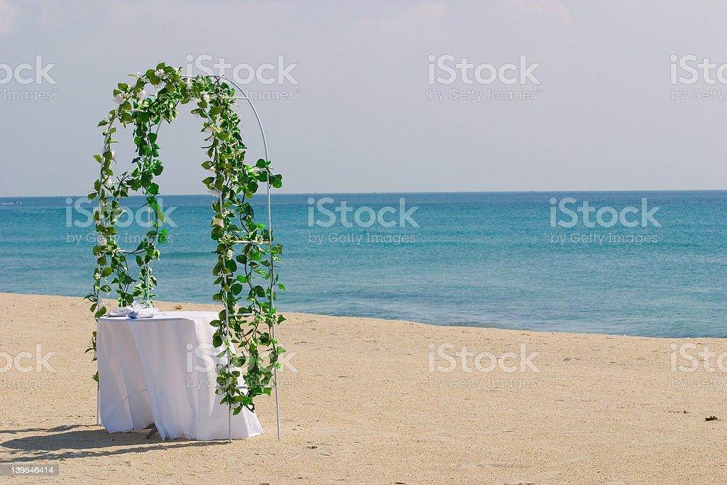Beach Altar royalty-free stock photo