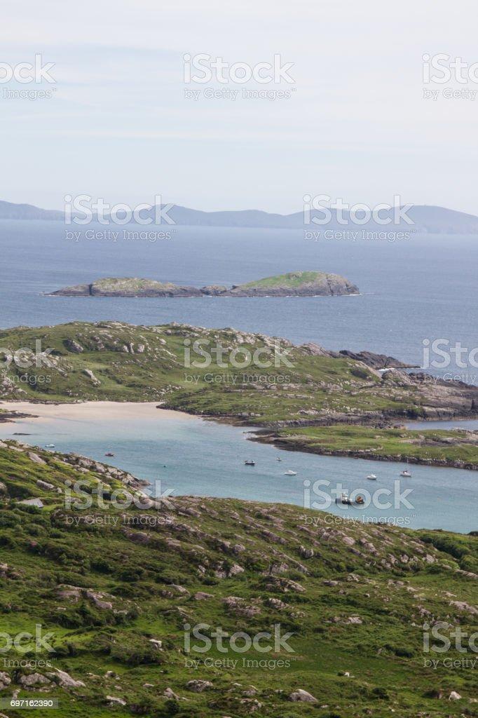 A Beach and a Harbor 2 stock photo