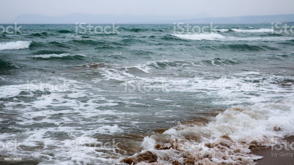 A beach and big waves - Royalty-free Beach Stock Photo