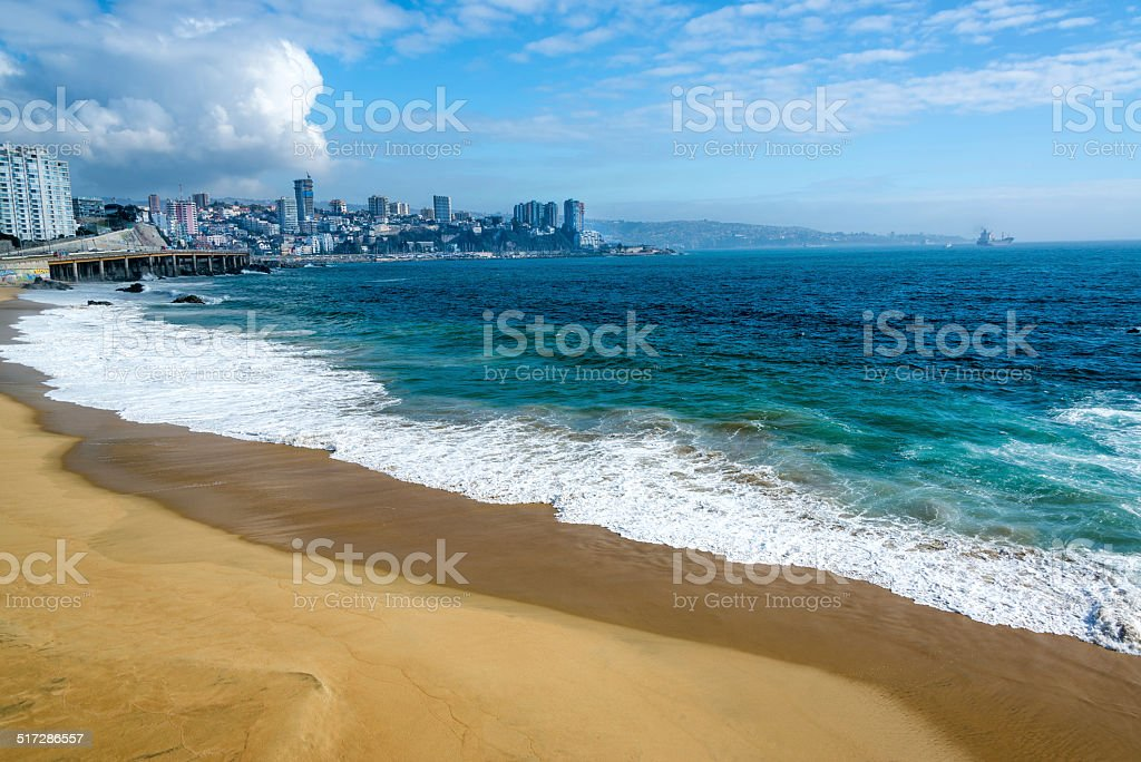 Beach and Blue Water stock photo