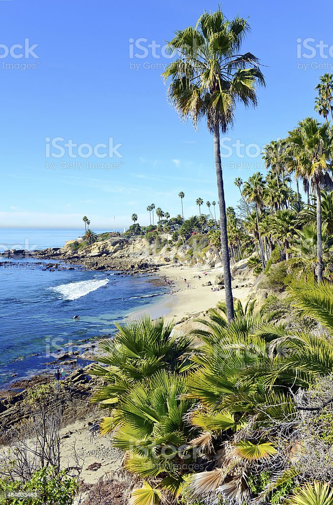 Beach and Coastline of Southern California, USA stock photo