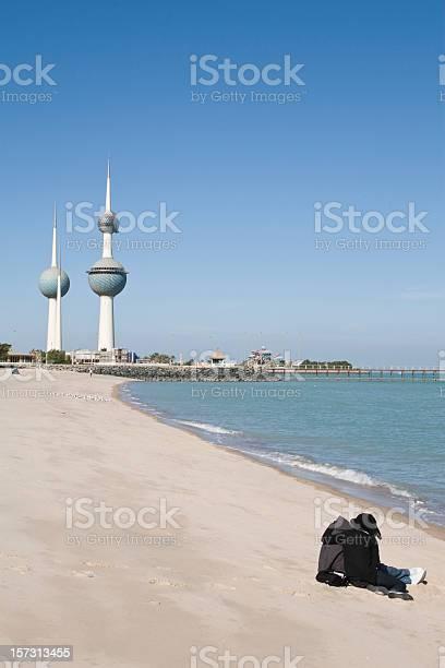 Beach and Kuwait Towers