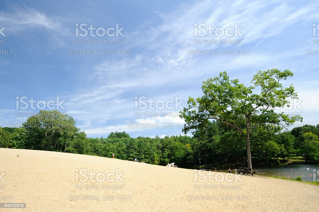 Beach and Lake at Black Rock State Park stock photo