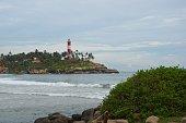 Lighthouse of Adimalathura, Thiruvananthapuram district, Kerala, India