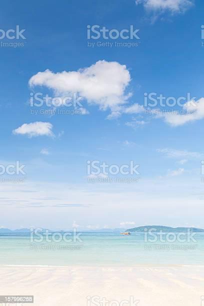 beach and ocean with bluesky