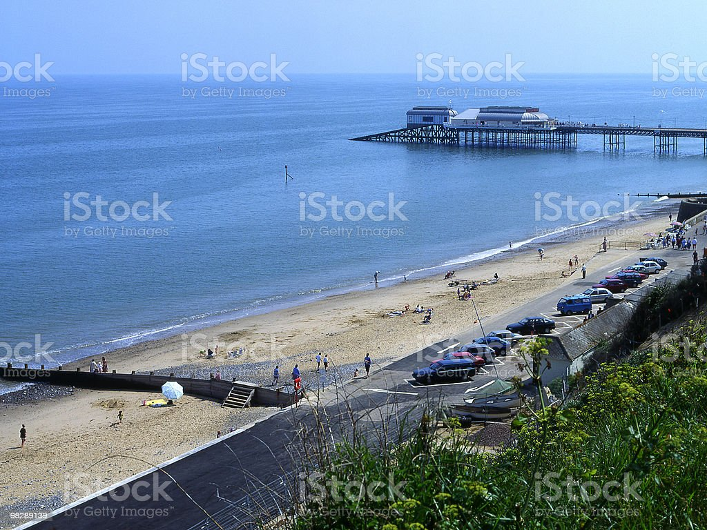 Beach and pier at Cromer, Norfolk, England royalty-free stock photo