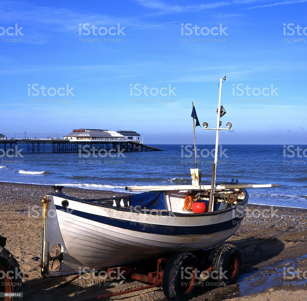 Beach and Pier at Cromer. Norfolk. England royalty-free stock photo