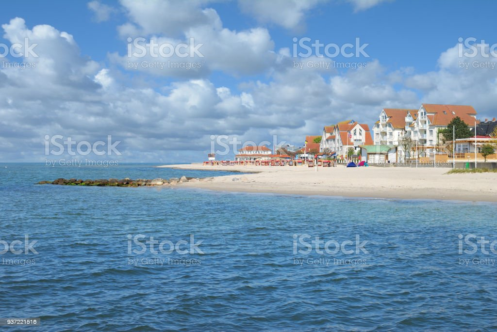 Beach and Promenade,Laboe,baltic Sea,Schleswig-Holstein,Germany stock photo