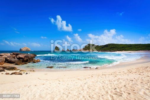 istock Beach and rocks at Pointe des Châteaux, Guadeloupe 453817783