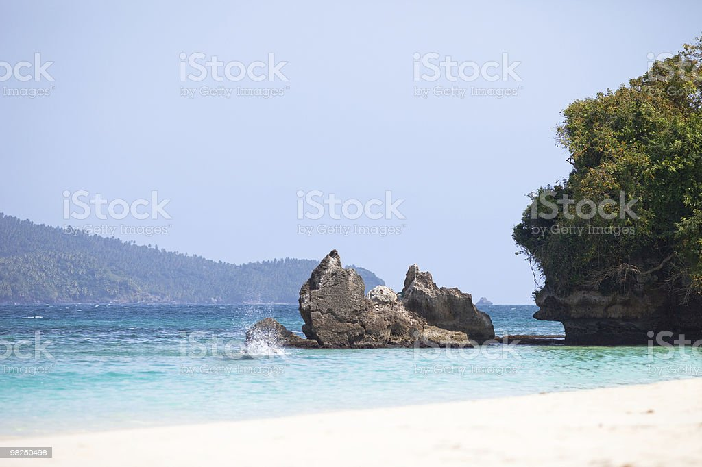 Beach and Rocks royalty-free stock photo