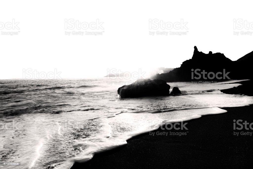Elegant and modern beach landscape picture taken in Marin headlands...