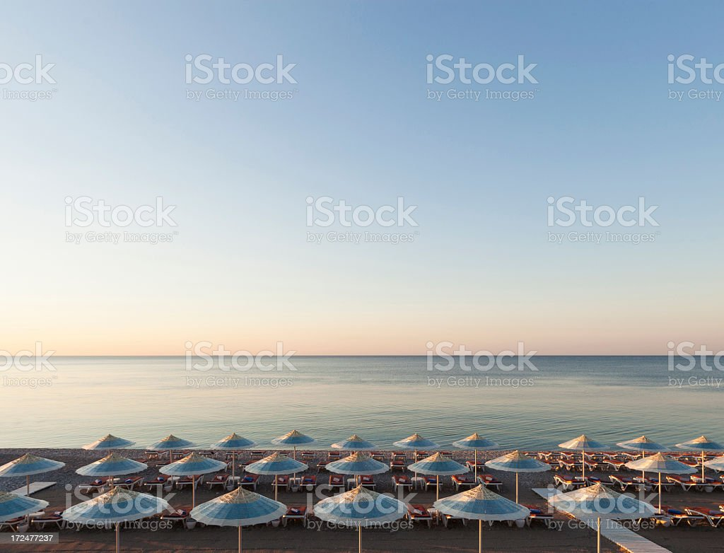 Beach and sea during sunrising royalty-free stock photo
