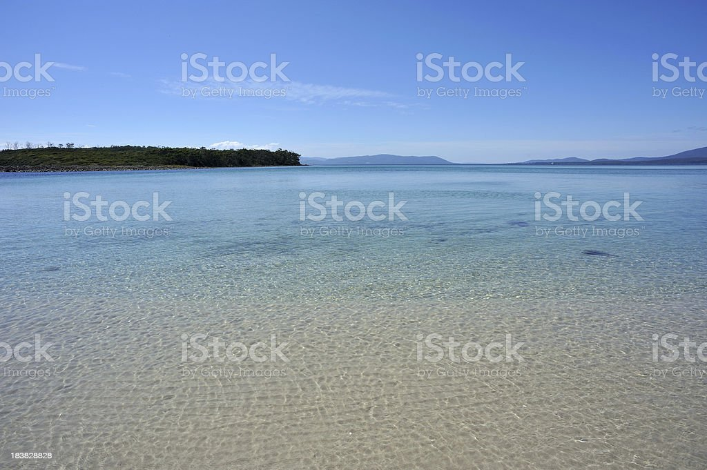 Beach and sea in Bruny Island, stock photo