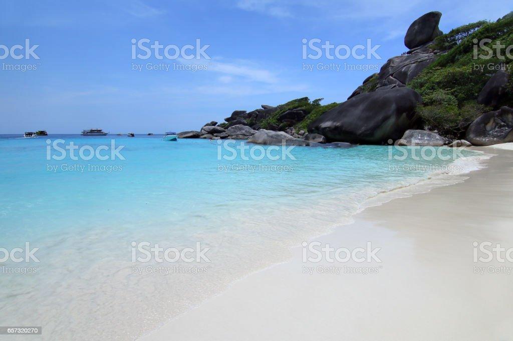 Beach and Sea in Similan Island, Thailand. stock photo