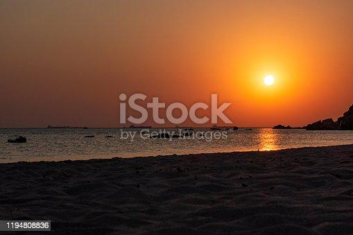 Beach and sea island