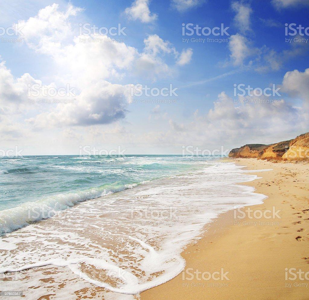 beach and sea royalty-free stock photo