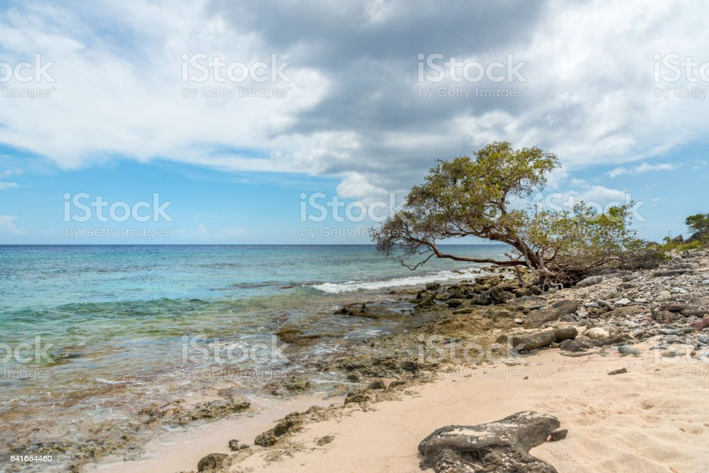 Beach and sea. This image is GPS tagged stock photo