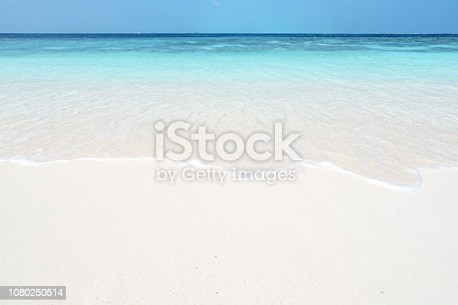 Beach And Sea Wave Copy Space Scene