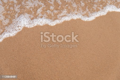 Beach and sea waves background