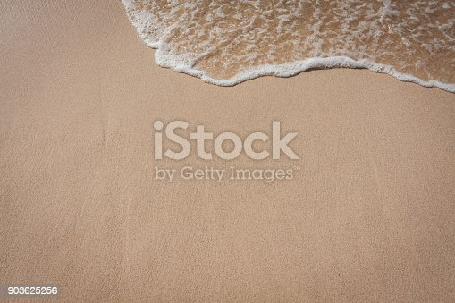 istock Beach and sea waves background 903625256