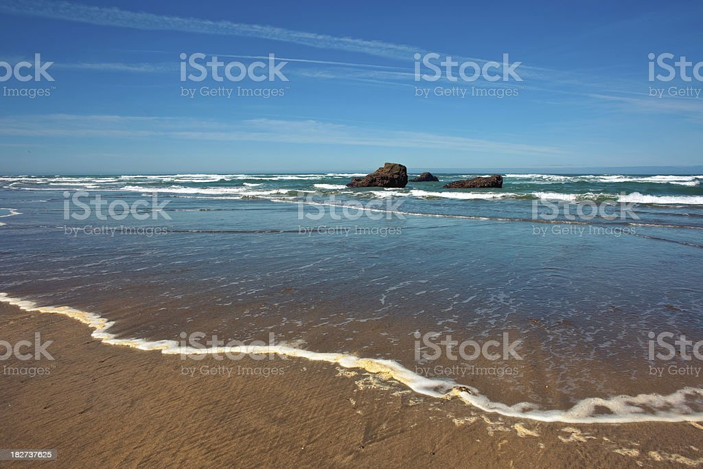 Beach and Surf royalty-free stock photo