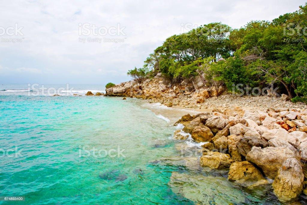 Playa y resort tropical, isla de Labadee, Haití. - foto de stock