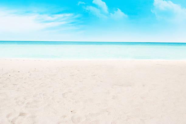Beach and tropical sea stock photo