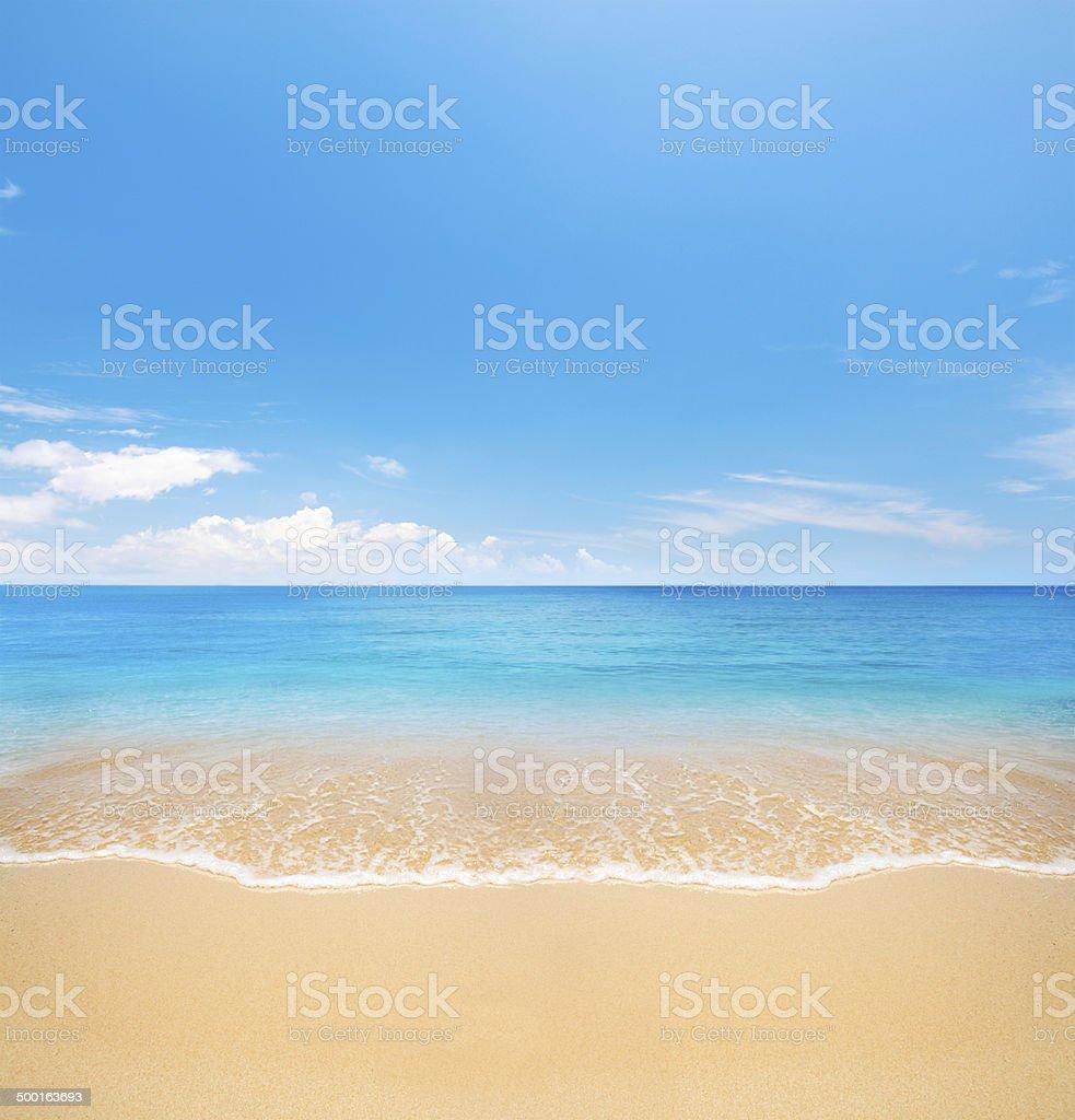 Strand und tropischen Meer – Foto