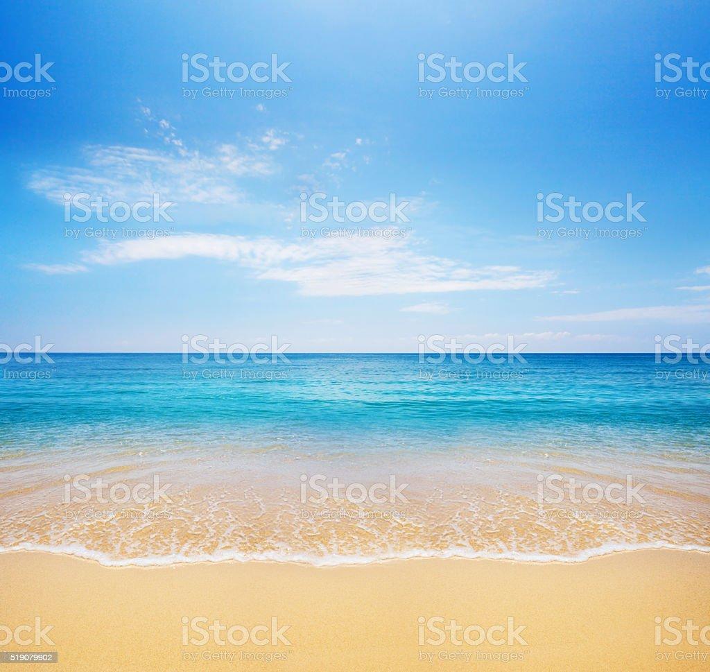 beach. Simple Beach Beach And Tropical Sea Stock Photo In Beach