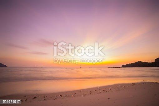 the beach and tropical sea