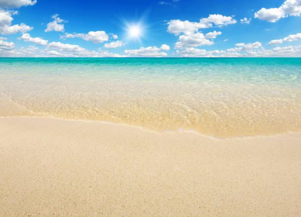 해변과 열대 바다빛 스톡 사진