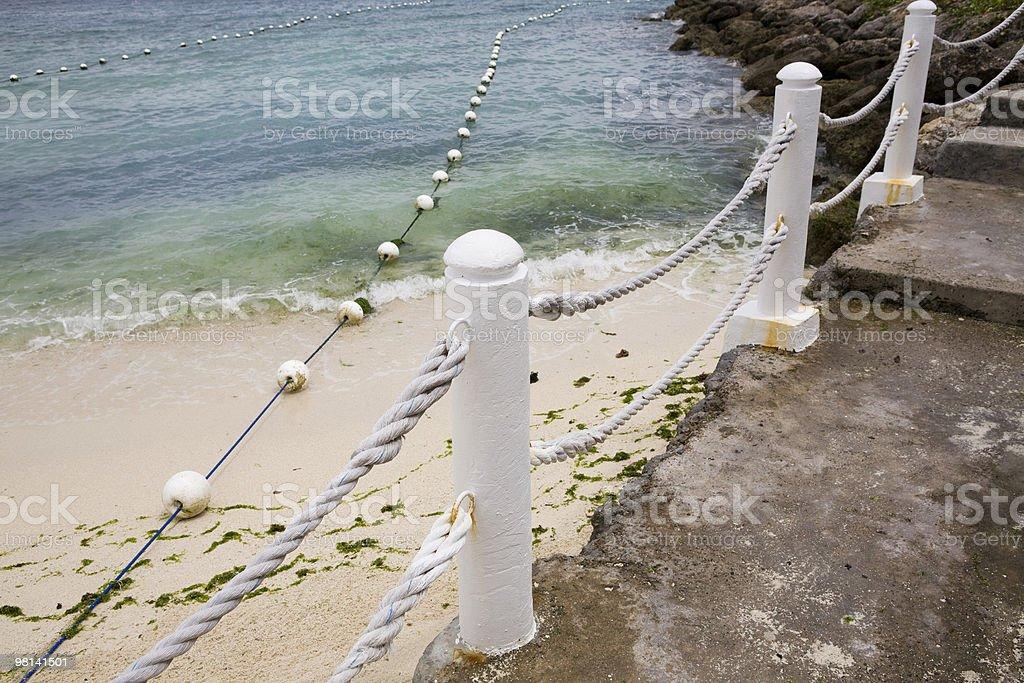 Beach and walkway royalty-free stock photo